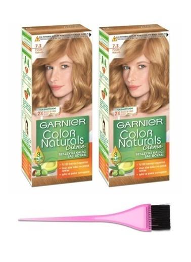 Garnier Garnier 2 Adet Color Naturals Saç Boyası 7.3 + Boya Fırçası Renksiz
